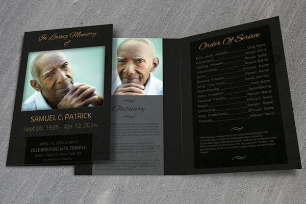 funeral template bifold brochure