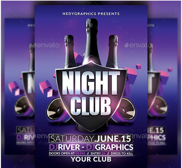Club Flyers 20 Free PDF PSD AI Vector EPS Format Download – Night Club Flyer