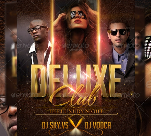Unique Deluxe Club Flyer Template