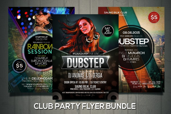 Club Party Flyer Bundle Template
