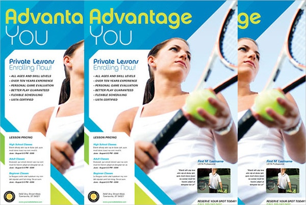Tennis Club Flyer Template
