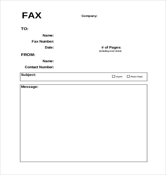 blank fax cover sheet template in pdf