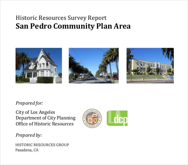 Historic Resources Survey Report PDF Template