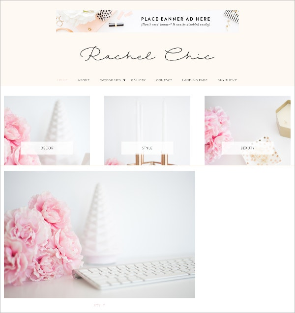 Simple WordPress Feminine Theme $79