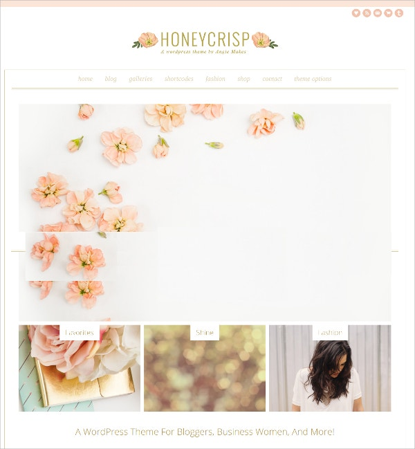 Premium Feminine WordPress Theme $45