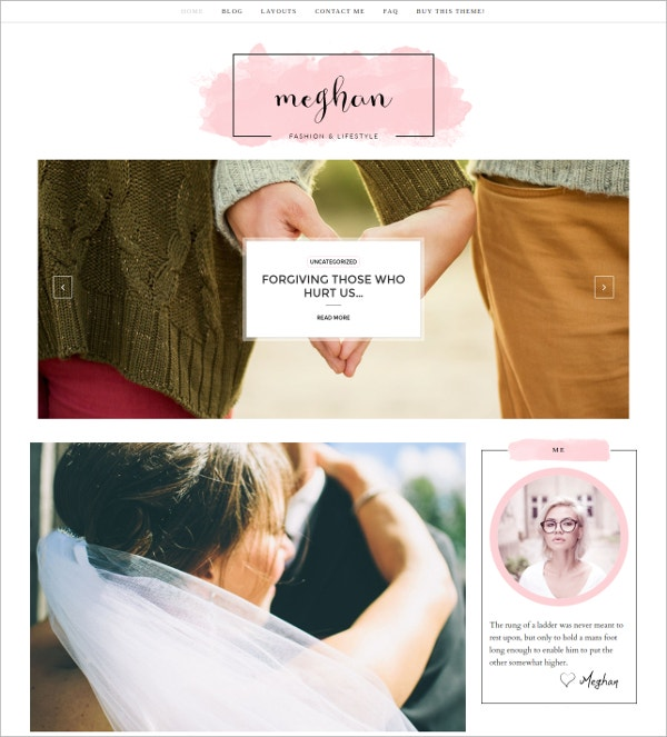 Design Feminine WordPress Theme $27