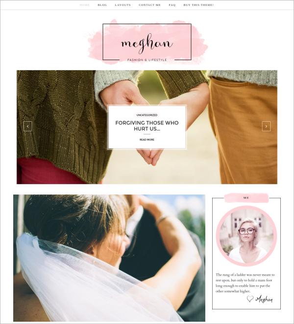 design feminine wordpress theme 27