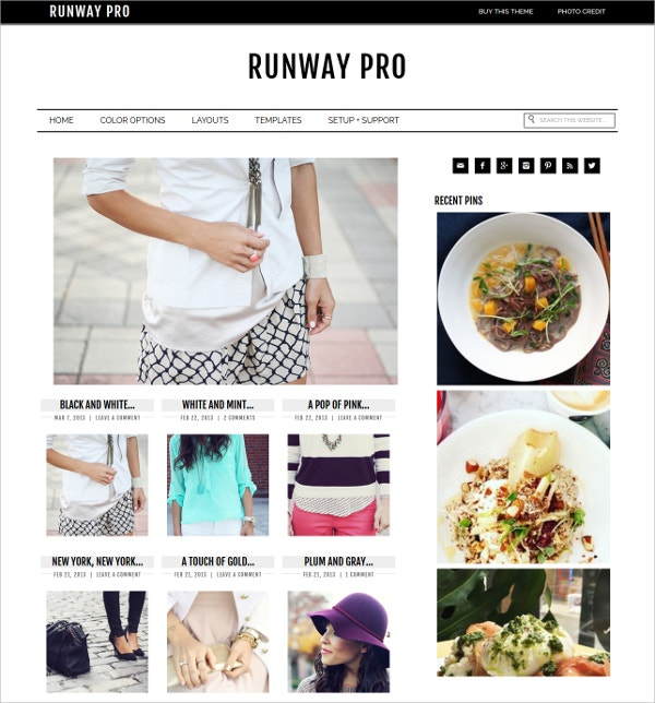 Creative Feminine WordPress Theme