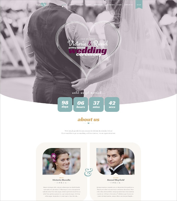 Feminine WordPress Wedding Theme $49