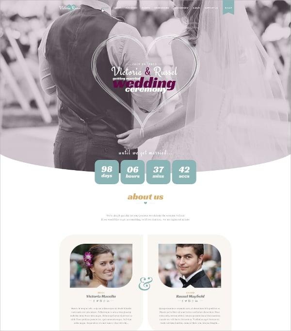 feminine wordpress wedding theme 49