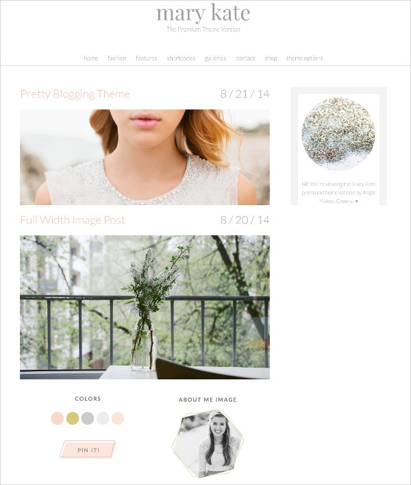 Feminine WordPress Theme For Women