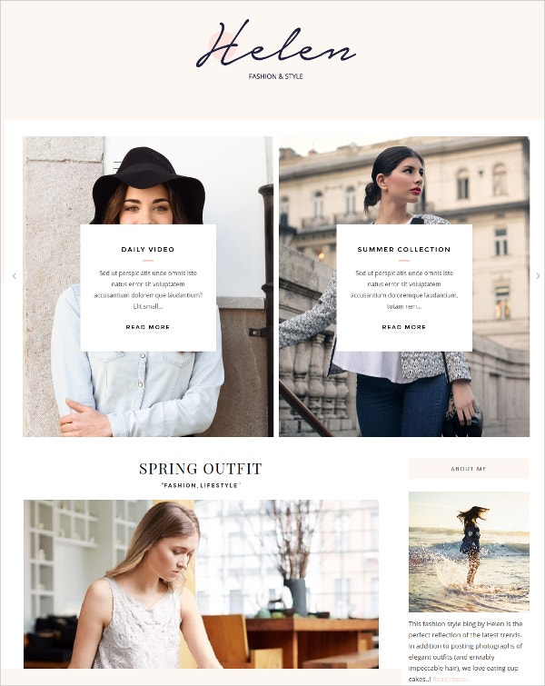 Elegant Feminine WordPress Theme