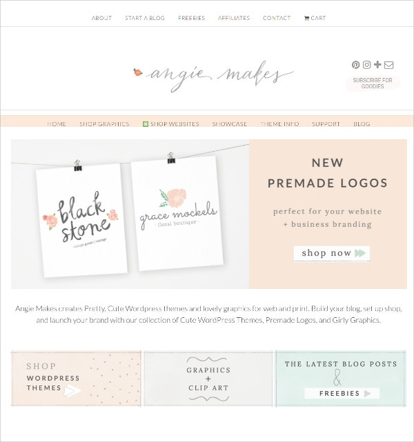 Pretty Feminine WordPress Theme