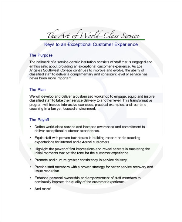 Program Proposal Template   Free Word Pdf Documents Download