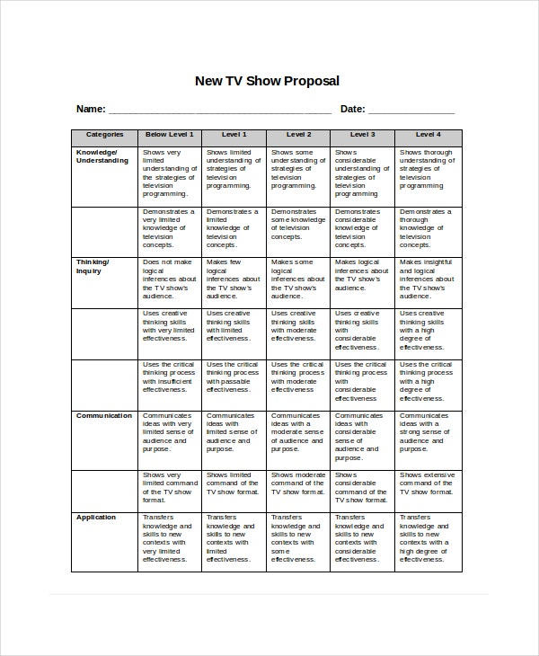 tv program proposal template