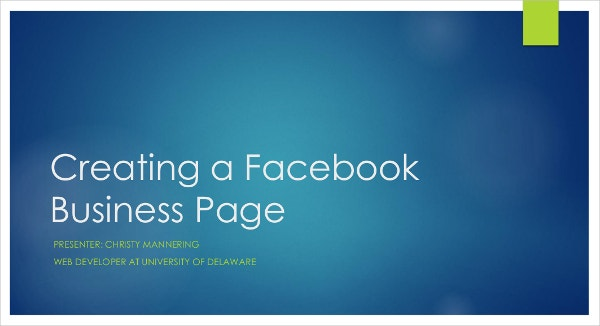 Creating Facebook Business Cover Page Template