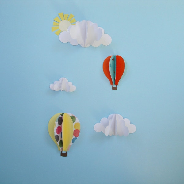 kids 3d wall art nursery decor
