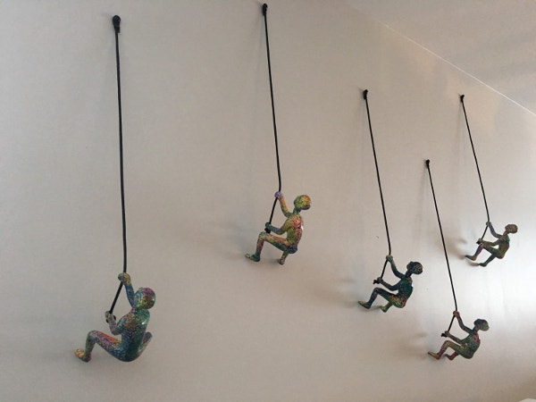 5 Piece Climbing Sculpture Wall Art 3D
