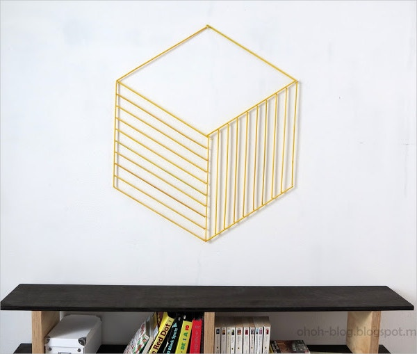 wood stick 3d wall art box