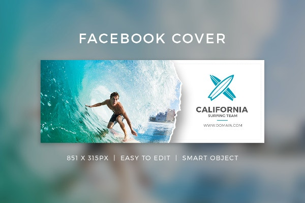 Facebook cover template 9 free word pdf psd documents for Facebook welcome page templates
