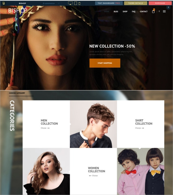 Premium eCommerce WordPress Theme $48