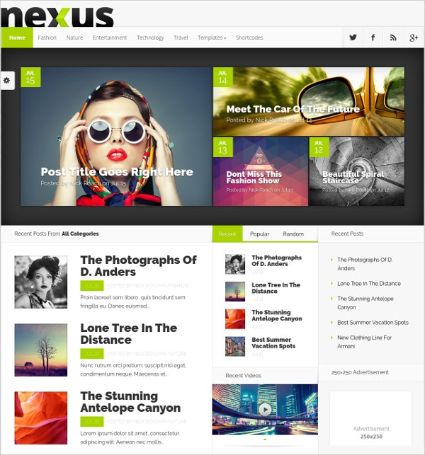 Stylish Free Blog WordPress Theme