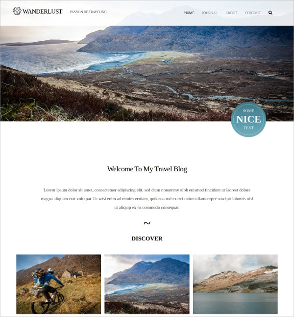 Travel Blog Free WordPress Theme