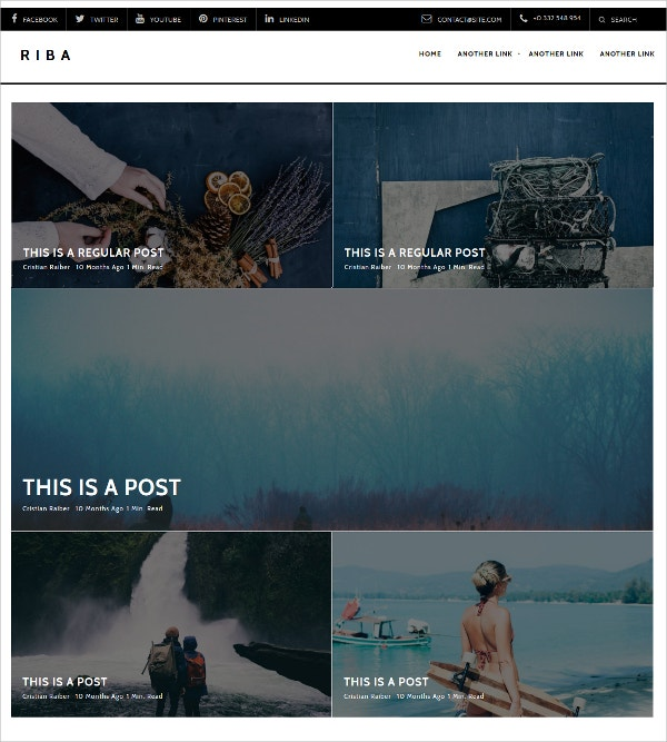 Minimal Blogging Free WordPress Theme