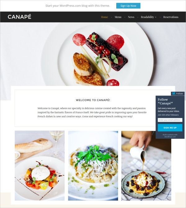 Restaurant & Food Realted Business Free WordPress Theme