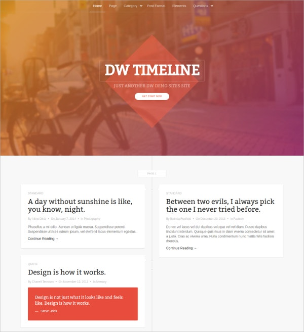 Portfolio WordPress Free Blog Theme