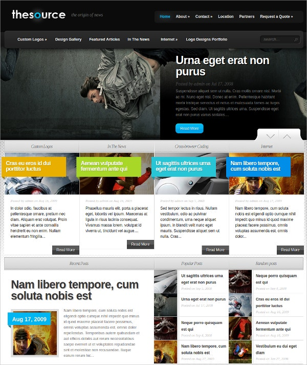 Design galery Blog WordPress Theme