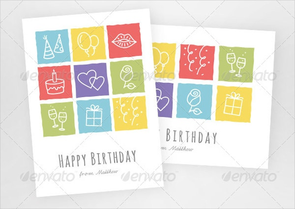 Handmade Colorful Birthday Greeting Card