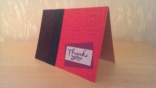 eleagant handmade thank you card