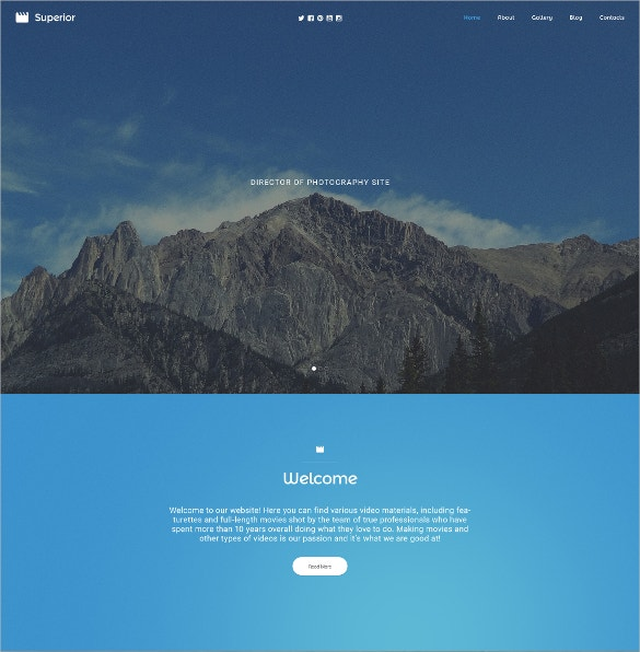 photographer portfolio responsive html5 website template