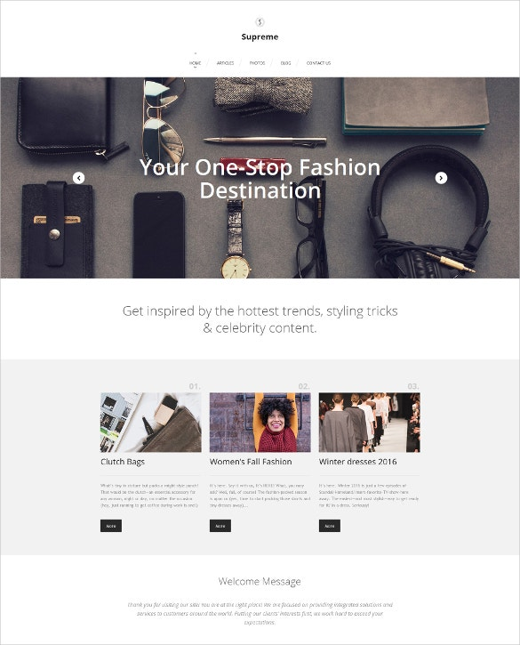 Fashion Responsive Moto CMS 3 HTML5 Template