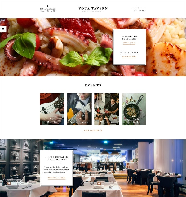 Cafe & Restaurant Responsive HTML5 Website Template