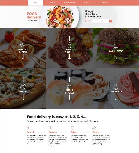 catering responsive html5 website template