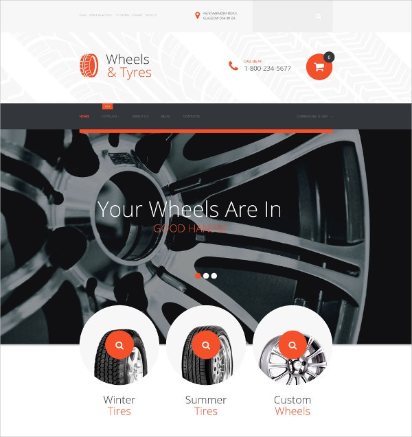 Wheels & Tires VirtueMart HTML5 Template