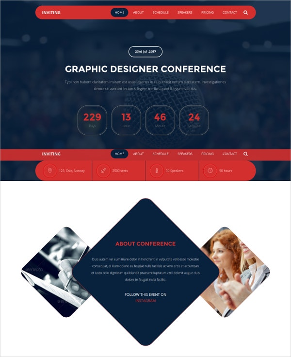 event conference html5 template