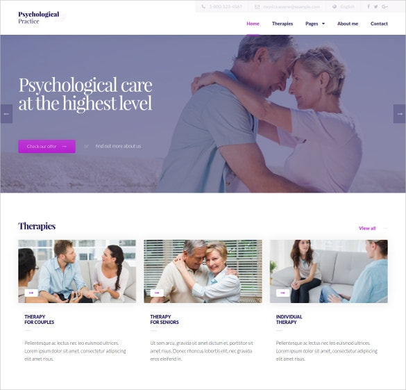Psychological Practice HTML5 Template