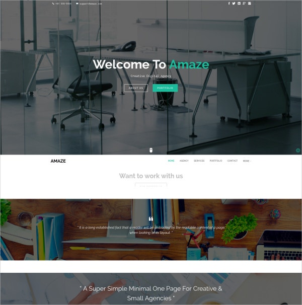 creative one page parallax html5 template