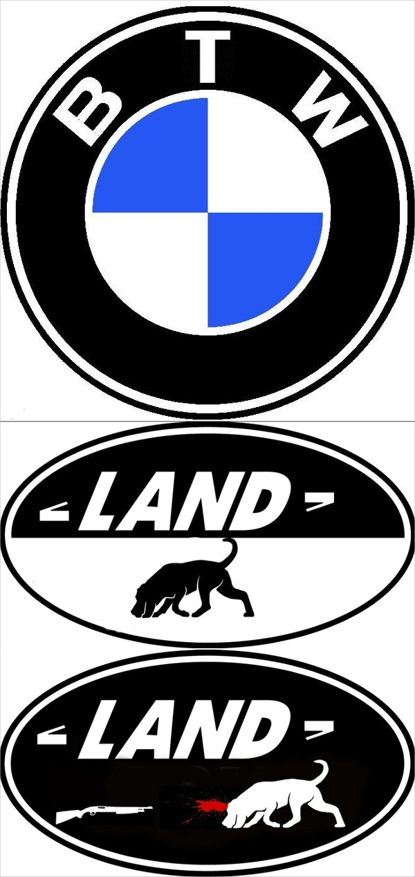 bmw land rover logo parodies