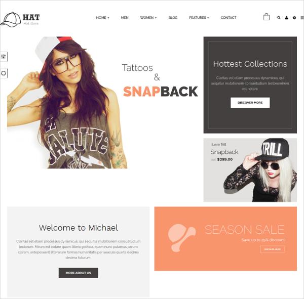 Hat Responsive Prestashop HTML5 Template