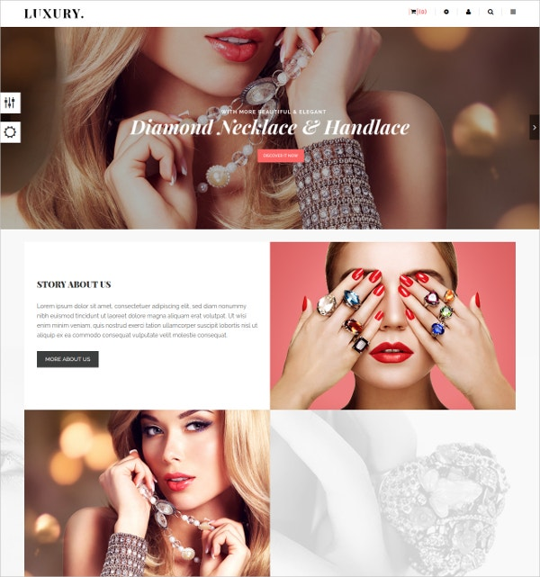 Jewelry Prestashop HTML5 Template