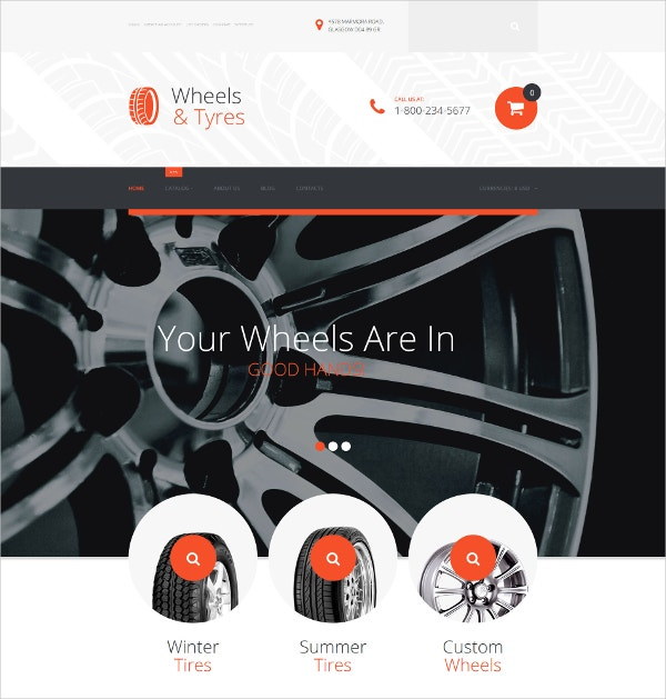 eCommerce Wheels & Tires VirtueMart Template