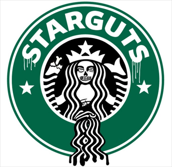 graphic regarding Starbucks Logo Printable identified as 21+ Humorous Emblem Parodies which will Crack oneself inside of Laughter