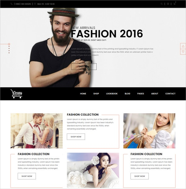 fashion ecommerce html5 template1