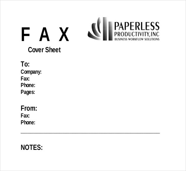 business fax cover sheet template for free1