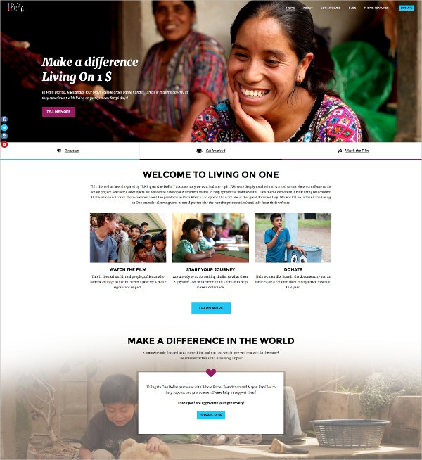 Charity & Non-Profit WordPress Theme