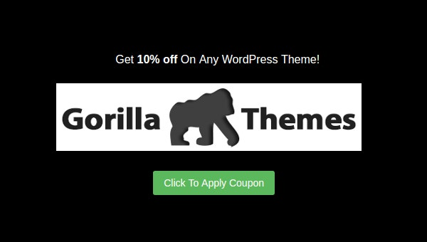 Gorilla Themes Discount Coupon for May 2016